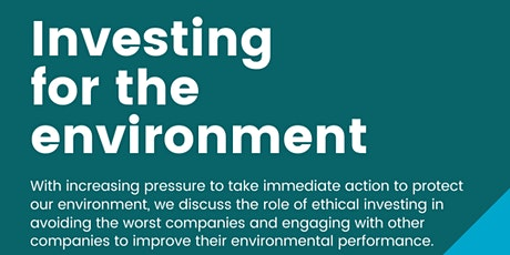 Investing for the environment tickets