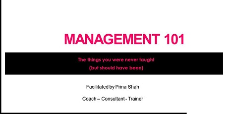 Management 101 - The things you were never taught (but should have been) tickets
