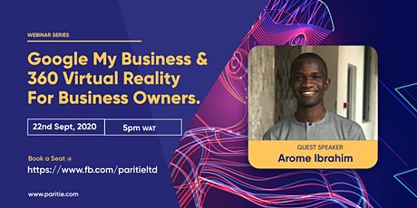 Google My Business Listing & 360 Virtual Reality For Business Owners tickets