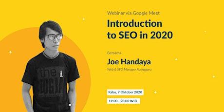 Introduction to SEO in 2020 with Joe Handaya tickets