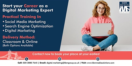 Open Day to  Start Your Career as a Digital Marketing Expert tickets