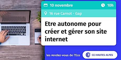 RDV de l'ECO : Etre autonome pour créer et gérer son internet billets