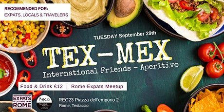 International Friends Aperitivo - Tex Mex tickets