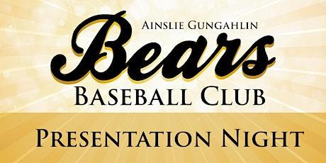 RESCHEDULED: 2019-20 season Ainslie Gungahlin Seniors Presentation Night tickets