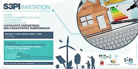"""Wébinaire """"Efficacité énergétique des collectivités"""" billets"""