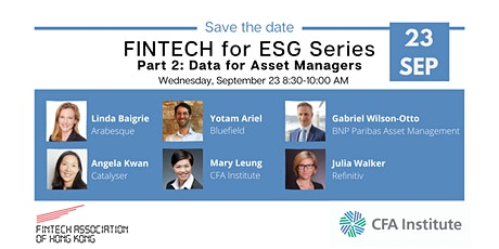FinTech for ESG Series: Data for Asset Managers tickets