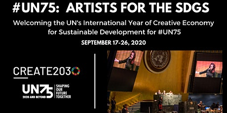 Create2030: #UN75 Artists for the SDGs Webinar Series tickets