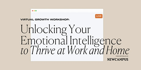 Emotional Intelligence Workshop to Thrive at Work and Home tickets