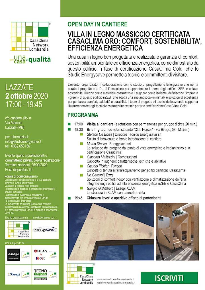 Immagine Open Day Villa in legno certificata CasaClima Gold