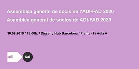 SAVE THE DATE! ASSEMBLEA GENERAL DE SOCIS ADI-FAD 2020 entradas