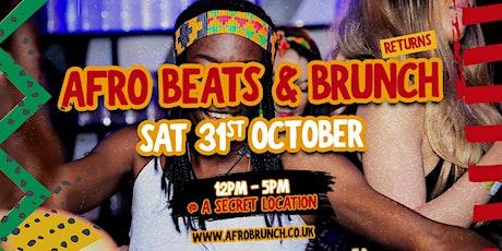 Afrobeats n Brunch London - Sat 31st Oct tickets