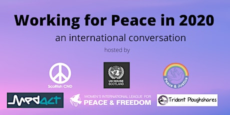 Working for Peace in 2020 tickets