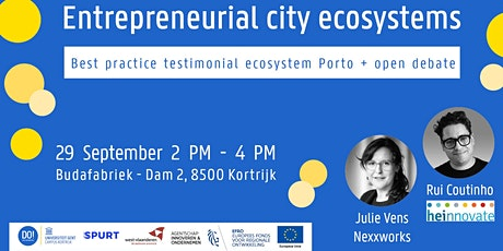 Inspirational talk & debate: Entrepreneurial city ecosystems tickets