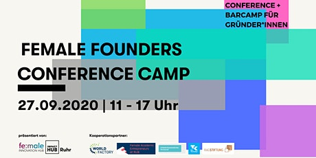 Female Founders ConferenceCamp - 27.09.2020 Tickets