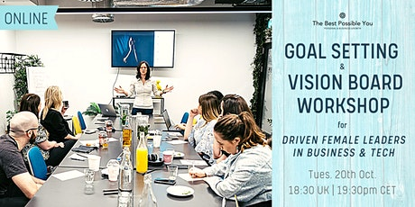 Goal Setting & Vision Board Workshop for Female Leaders in Business & Tech boletos