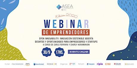 Webinar Enel : Open Innovability: Innovación sostenible abierta entradas