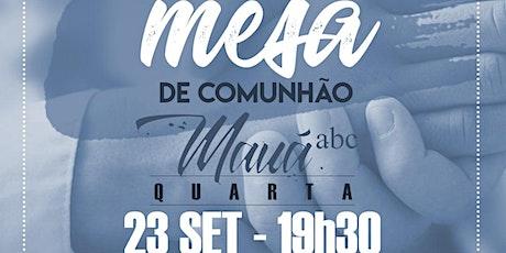 MESA DE COMUNHÃO PARA PASTORES - ABC PAULISTA / MAUÁ ingressos