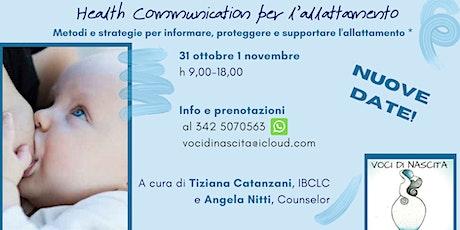 HEALTH COMMUNICATION - NEL SOSTEGNO ALL'ALLATTAMENTO tickets