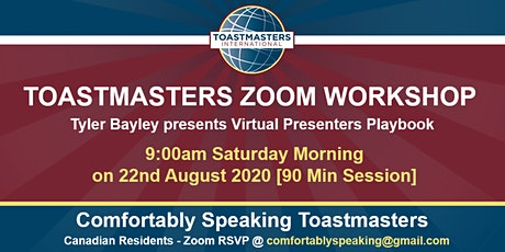 Toastmasters Zoom Workshop with Tyler Bayley tickets