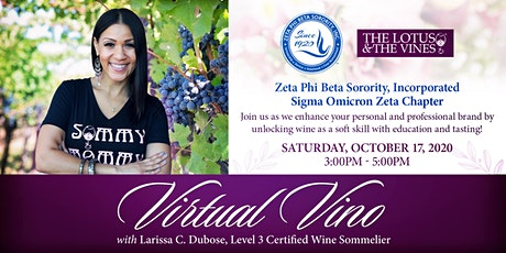 Virtual Vino ft.Larissa C. Dubose of The Lotus & The Vines tickets