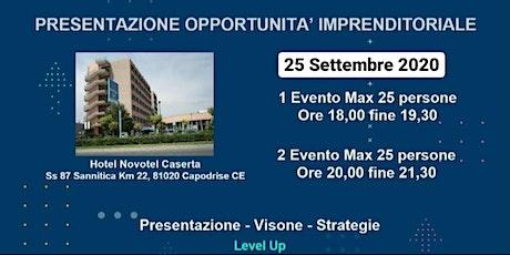 Presentazione Opportunità Imprenditoriale  25 Sett biglietti