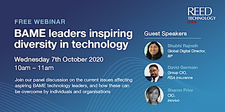 BAME leaders inspiring diversity in technology tickets