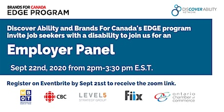 Employer Panel - The Discover Ability Network and EDGE tickets