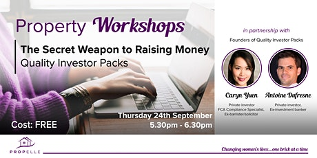 Property Workshops | The Secret Weapon to Raising Money tickets