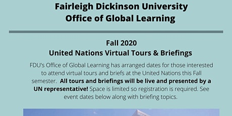 FDU United Nations Virtual Tour and Briefing 9/23 tickets