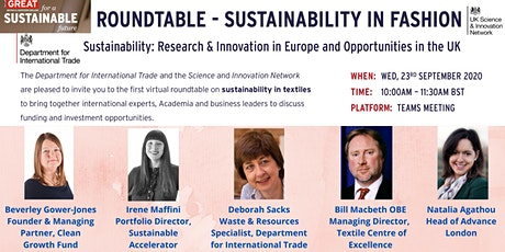 Virtual Roundtable - Sustainability in Fashion tickets