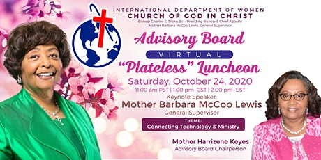 "2020 Advisory Board Virtual ""Plateless"" Luncheon - Session One ingressos"