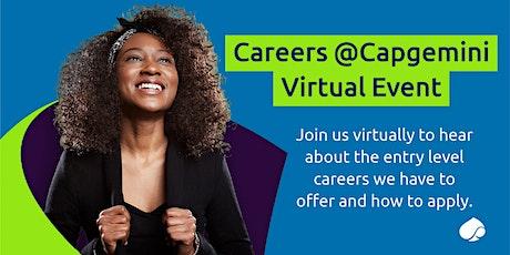 Careers @Capgemini  - Starting a career in Tech tickets