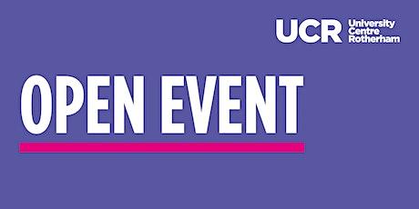 University Centre Rotherham | Virtual Open Event tickets