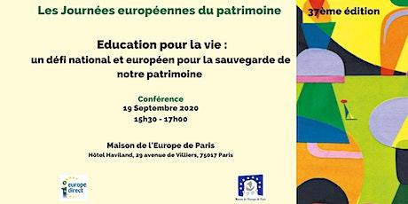 Education pour la vie : un défi national et européen pour la sauvegarde de billets