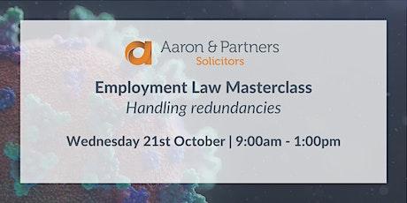 Employment Law Masterclass - Handling redundancies tickets