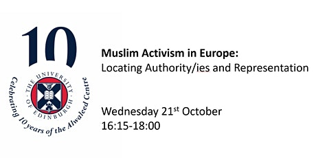 Muslim Activism in Europe: Locating Authority/ies and Representation tickets