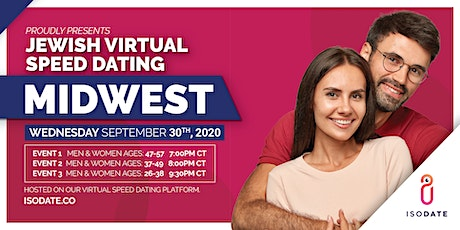 Isodate's Midwest Jewish Virtual Speed Dating tickets