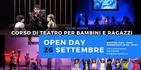 Open Day Corso di teatro per bambini e ragazzi biglietti