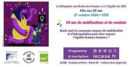 Les 20 ans de la Délégation aux droits des femmes et à l'égalité du CESE billets