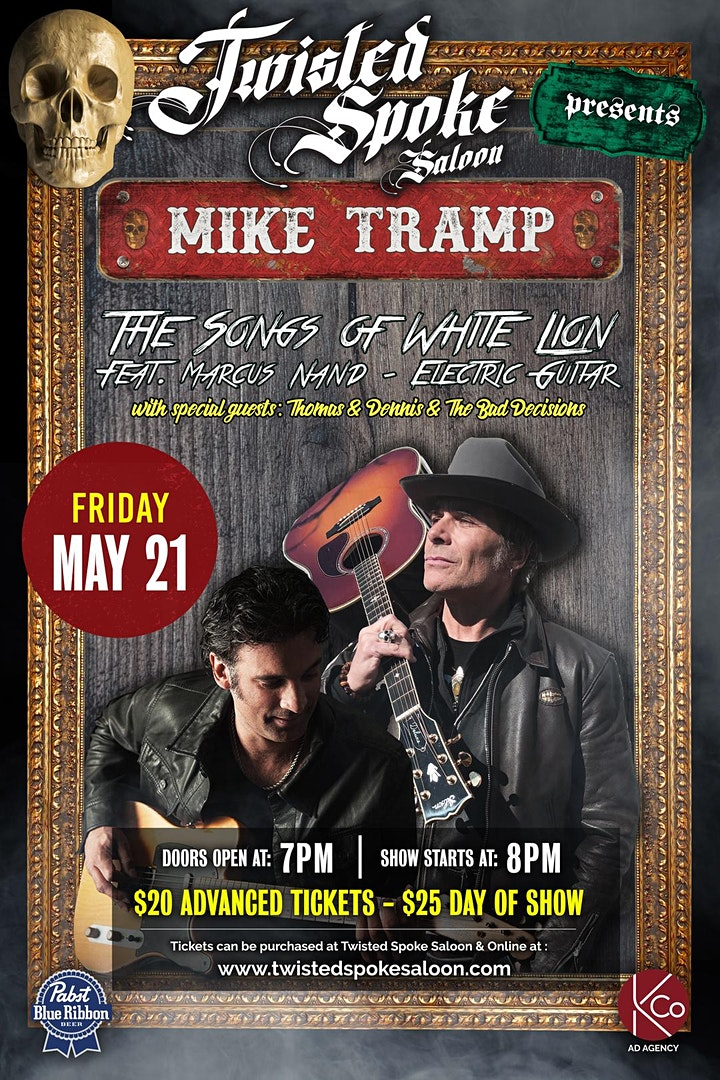 """MIKE TRAMP """"The Songs of WHITE LION"""" Feat. Marcus Nand on Electric Guitar. image"""