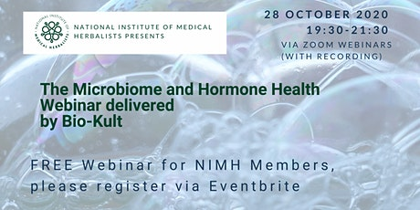 The Microbiome and Hormone Health Webinar delivered by Bio-Kult tickets