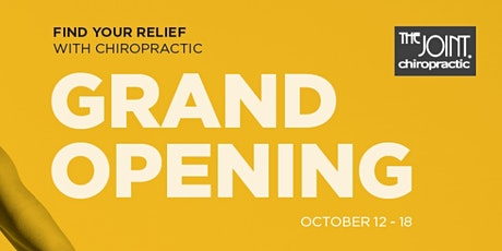 The Joint Chiropractic St. Petersburg Grand Opening tickets