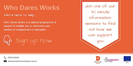 Who Dares Works - Helston information session tickets