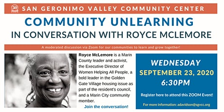 Community Unlearning - In Conversation with Royce McLemore tickets