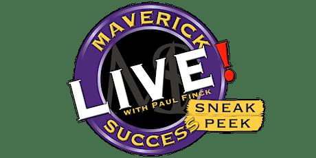 Maverick Success Live Sneak Peek - October 2020 tickets