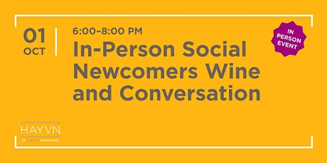 Newcomers Wine and Conversation tickets