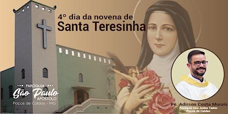 4º dia da Novena de Santa Teresinha ingressos
