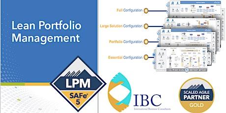 Lean Portfolio Management (5.0.1) -Remote class tickets
