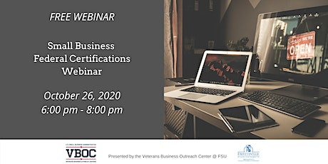 Small Business Federal Certifications Webinar tickets