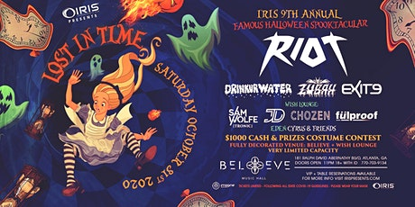 Halloween w/ RIOT Lost In Time -11 pm(doors) IRIS Halloween Spooktacular tickets